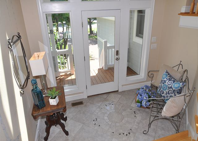 Entry of Tranquility Farms, a 7 bedroom, 5.5 bathroom vacation rental in Corolla, NC