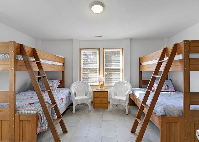 Two Pyramid Bunk Bed Sets Master Bedroom - Ground Level