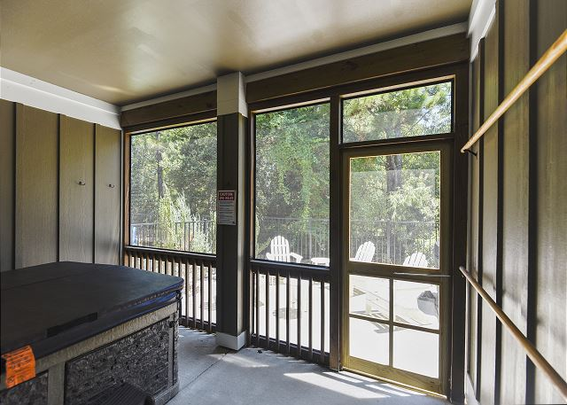 Hot Tub in Screened Porch - Entry Level