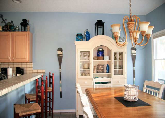 Dining Room Sugar Shack is a 4 bedroom, 3.0 bathroom vacation rental in Corolla, NC