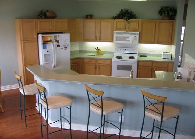 Kitchen of Beach Boddie, a 4 bedroom, 3.0 bathroom vacation rental in Corolla, NC