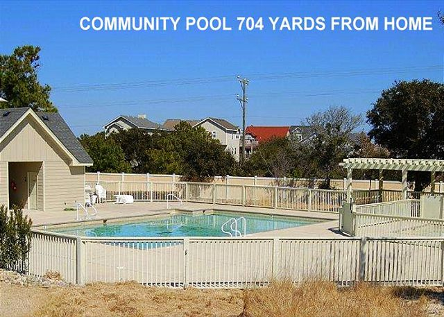 COMMUNITY POOL of Southern Breeze, a 5 bedroom, 4.5 bathroom vacation rental in Corolla, NC