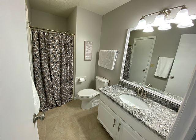 Shared Bath new granite vanity- Mid Level