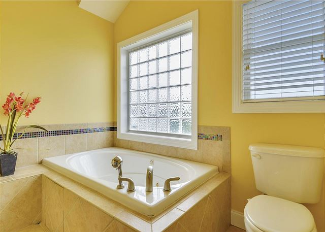 King Master Bathroom Guest House of Coastal Castle, a 8 bedroom, 7.0 bathroom vacation rental in Corolla, NC
