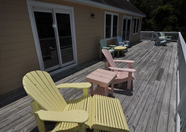 Deck Top Level of Amazing Grace, a 4 bedroom, 3.5 bathroom vacation rental in Corolla, NC