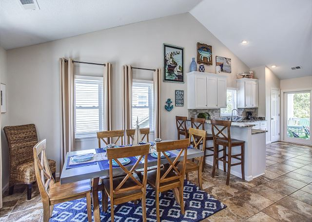 Dining Area Top Level of Just Fore Fun, a 4 bedroom, 3.5 bathroom vacation rental in Corolla, NC