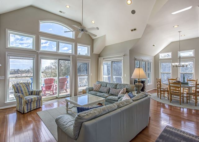 Great Room Top Level of Heron Haven, a 5 bedroom, 4.5 bathroom vacation rental in Corolla, NC