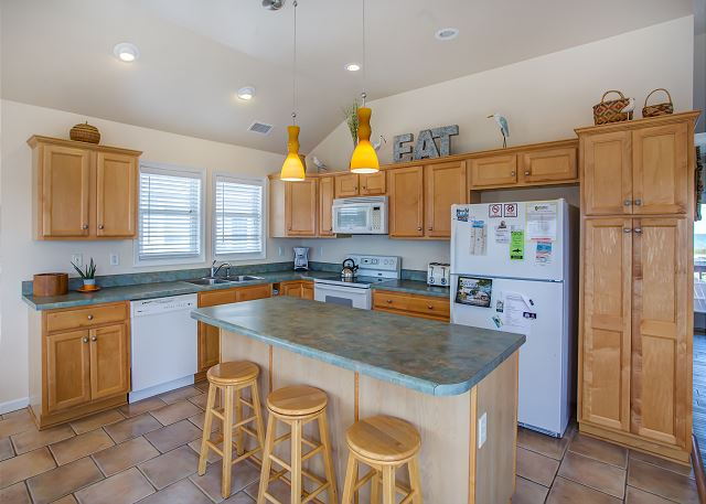 Kitchen Top Level of Just Peachy, a 4 bedroom, 4.5 bathroom vacation rental in Kill Devil Hills, NC