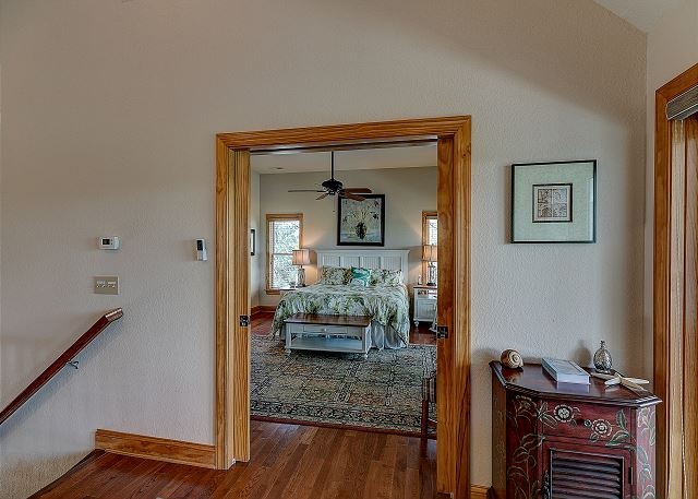 Entry way mid level of Southern Breeze, a 5 bedroom, 4.5 bathroom vacation rental in Corolla, NC