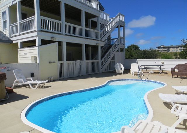 Private Pool of A Perfect 10, a 6 bedroom, 5.5 bathroom vacation rental in Corolla, NC
