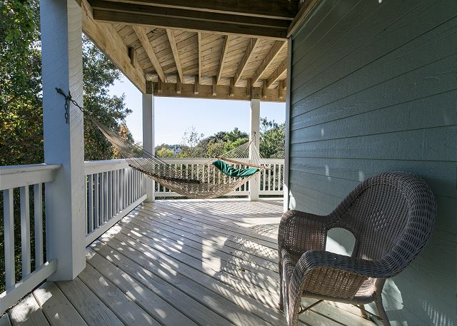 Mid Level Deck of Sea the Green, a 7 bedroom, 5.5 bathroom vacation rental in Corolla, NC