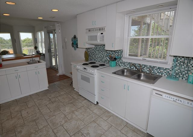 Kitchen Top Level of Sunset Strip, a 5 bedroom, 3.0 bathroom vacation rental in Corolla, NC