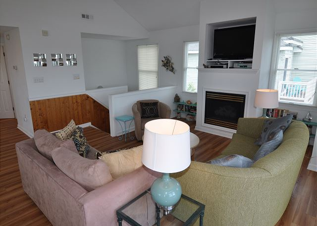 Living Area Top Level of Sunset Strip, a 5 bedroom, 3.0 bathroom vacation rental in Corolla, NC