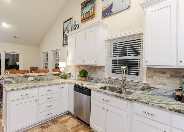 Kitchen Top Level of Just Fore Fun, a 4 bedroom, 3.5 bathroom vacation rental in Corolla, NC