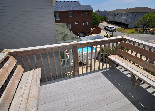 Deck off King Room Top Level of Kara's Sandcastle, a 4 bedroom, 2.0 bathroom vacation rental in Corolla, NC