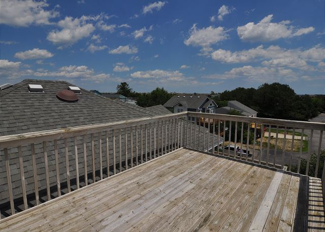 Roof Top Deck of Sunset Strip, a 5 bedroom, 3.0 bathroom vacation rental in Corolla, NC