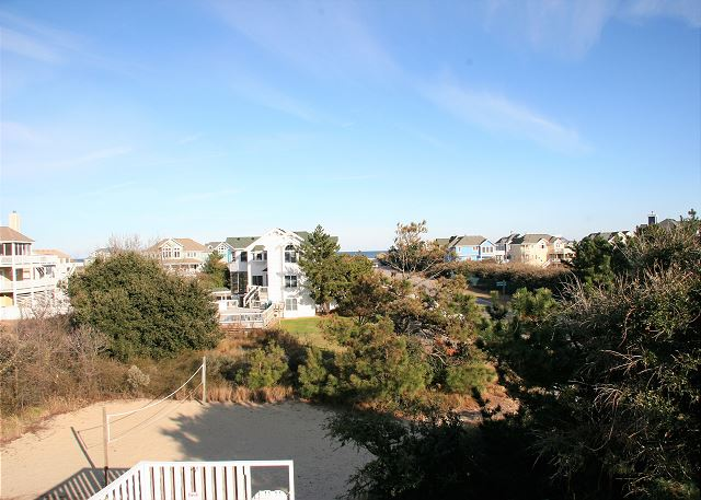 Private Volleyball Court of Neely's Beach Music, a 5 bedroom, 3.5 bathroom vacation rental in Corolla, NC