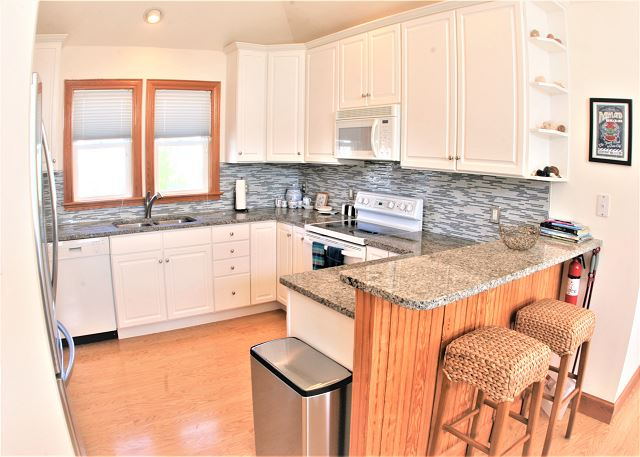 Kitchen Top Level  of OB Wave, a 5 bedroom, 3.5 bathroom vacation rental in Corolla, NC