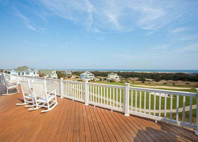 Deck Top Level of Nittany Vista, a 7 bedroom, 7.5 bathroom vacation rental in Corolla, NC