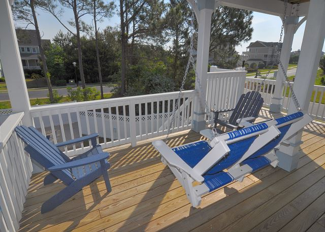 Deck Mid Level of Forever 409, a 6 bedroom, 5.5 bathroom vacation rental in Corolla, NC