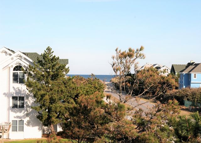 Ocean View of Neely's Beach Music, a 5 bedroom, 3.5 bathroom vacation rental in Corolla, NC