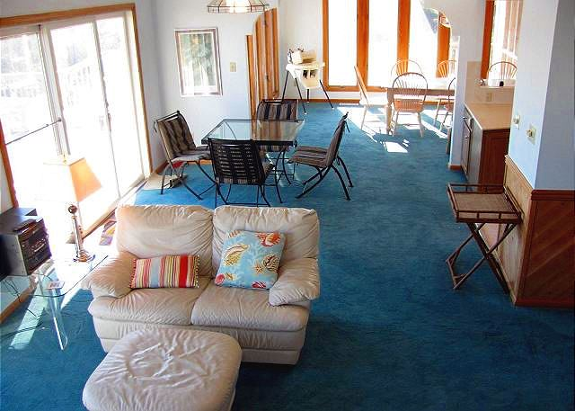 Living Room Mid Level of Utopia, a 5 bedroom, 5.0 bathroom vacation rental in Duck, NC