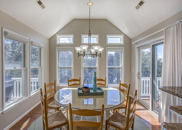 Dining Area Top Level of Heron Haven, a 5 bedroom, 4.5 bathroom vacation rental in Corolla, NC