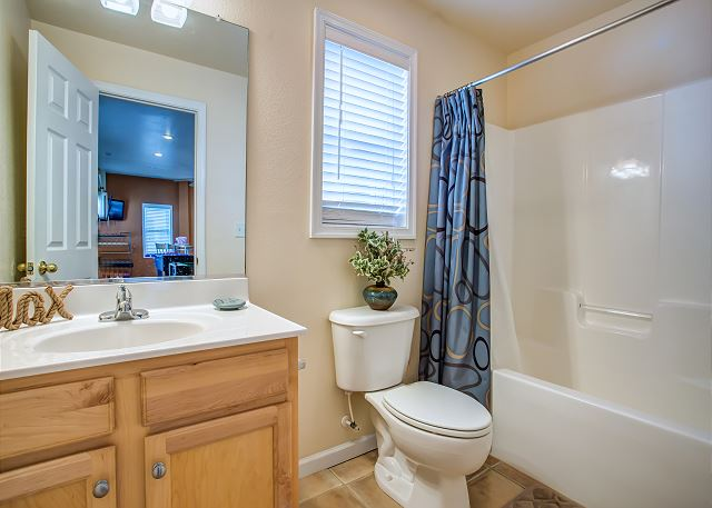 Full Bathroom Ground Level of Just Peachy, a 4 bedroom, 4.5 bathroom vacation rental in Kill Devil Hills, NC