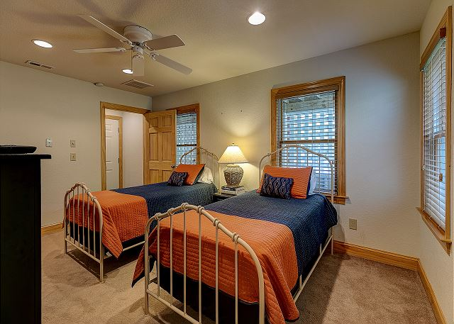 Two Twin Beds Master Bedroom - Ground Level