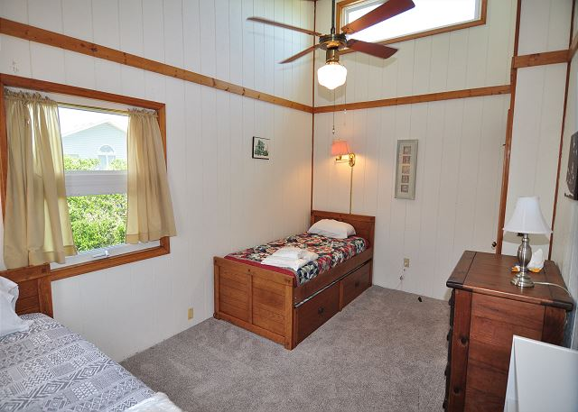 2 Twin Beds with Trundles Top Level of Kara's Sandcastle, a 4 bedroom, 2.0 bathroom vacation rental in Corolla, NC