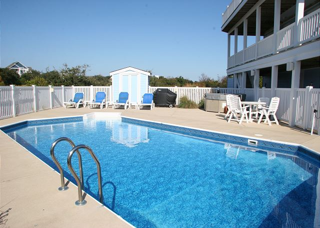 Pool of Pinch Me, a 5 bedroom, 5.5 bathroom vacation rental in Corolla, NC