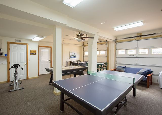 Ping Pong Table Ground Level of Nittany Vista, a 7 bedroom, 7.5 bathroom vacation rental in Corolla, NC
