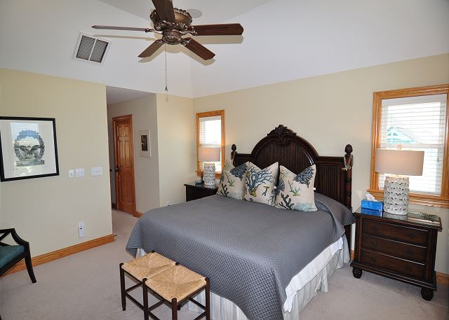 King Master Top Level of Sand Simeon, a 7 bedroom, 7.5 bathroom vacation rental in Corolla, NC