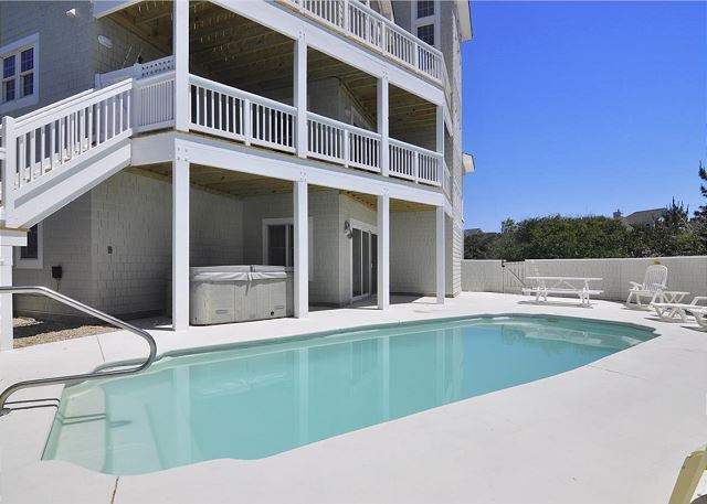 Pool Deck Waterlily is a 5 bedroom, 5.5 bathroom vacation rental in Corolla, NC