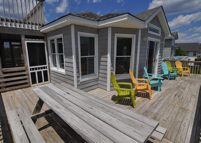 Deck Top Level Sunset Strip is a 5 bedroom, 3.0 bathroom vacation rental in Corolla, NC