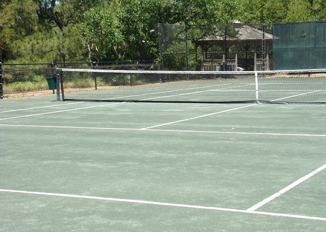 Pine Island Clay Tennis Courts of Waterlily, a 5 bedroom, 5.5 bathroom vacation rental in Corolla, NC