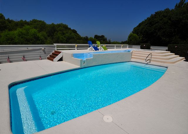 Pool of Tranquility Farms, a 7 bedroom, 5.5 bathroom vacation rental in Corolla, NC