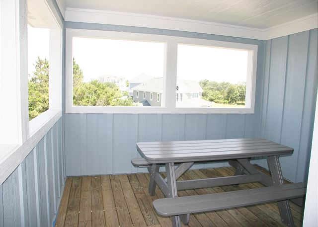 Screened-in Porch of Forever 409, a 6 bedroom, 5.5 bathroom vacation rental in Corolla, NC