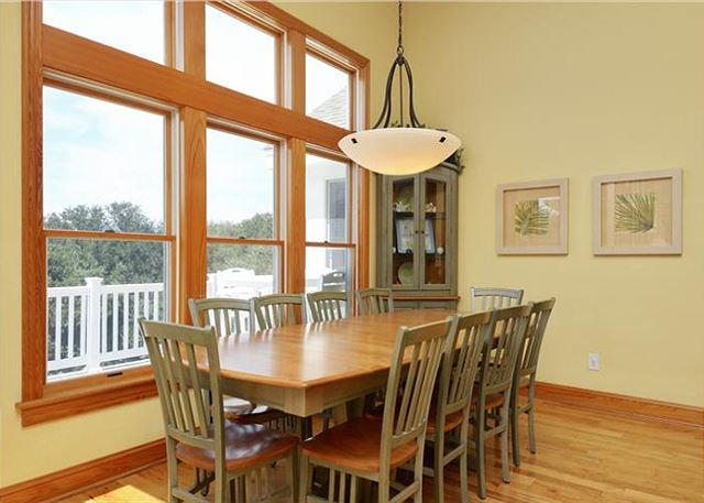 Dining Area Top Level of Thanks Dad, a 6 bedroom, 5.5 bathroom vacation rental in Corolla, NC