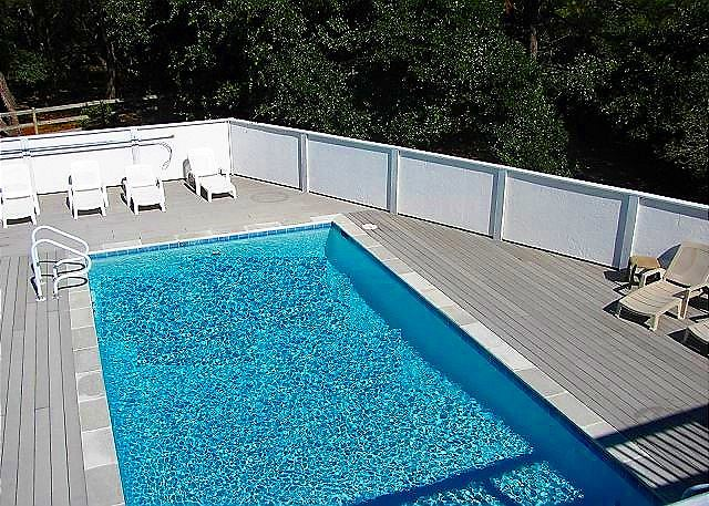 Private Pool of Bono Fide Blessing, a 5 bedroom, 4.5 bathroom vacation rental in Corolla, NC
