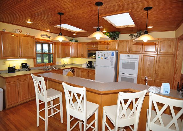 Kitchen Top Level of Silver Creek, a 5 bedroom, 4.5 bathroom vacation rental in Southern Shores, NC