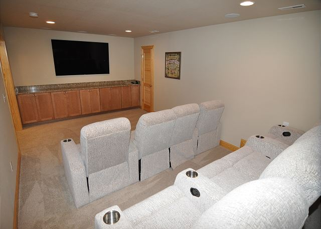 Theater Room Ground Level  of Sandy Toes & Salty Kisses, a 11 bedroom, 9.5 bathroom vacation rental in Corolla, NC
