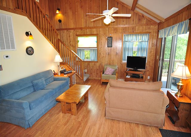 Great Room Top Level of Kara's Sandcastle, a 4 bedroom, 2.0 bathroom vacation rental in Corolla, NC
