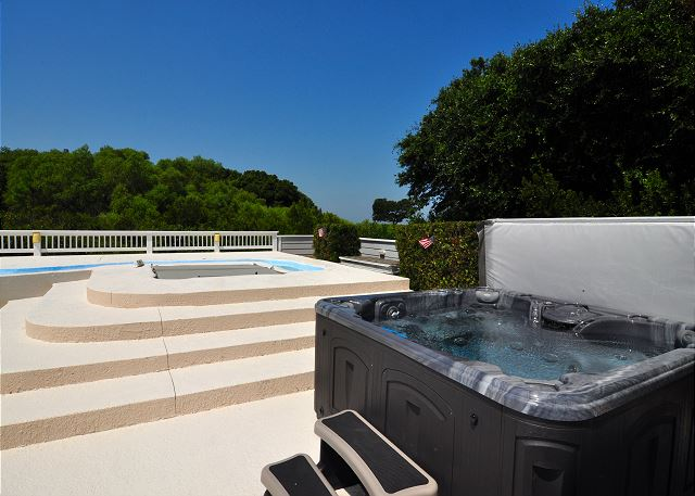 Hot Tub of Tranquility Farms, a 7 bedroom, 5.5 bathroom vacation rental in Corolla, NC