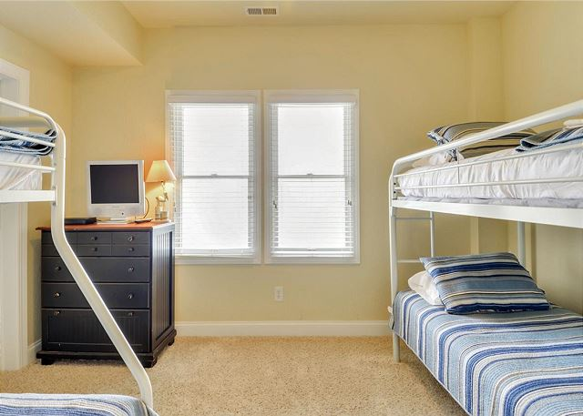 Double Bunk Master Bedroom Ground Level of Coastal Castle, a 8 bedroom, 7.0 bathroom vacation rental in Corolla, NC