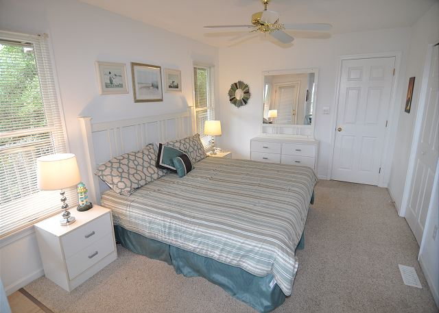 King Master Bedroom Entry Level Sunset Strip is a 5 bedroom, 3.0 bathroom vacation rental in Corolla, NC