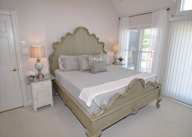 1st King Master Bedroom Top Level of Tranquility Farms, a 7 bedroom, 5.5 bathroom vacation rental in Corolla, NC