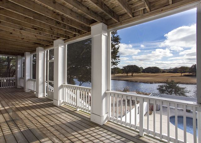 Porch View of Southern Breeze, a 5 bedroom, 4.5 bathroom vacation rental in Corolla, NC