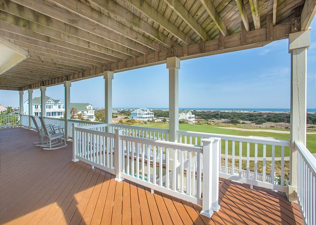 Deck Mid Level of Nittany Vista, a 7 bedroom, 7.5 bathroom vacation rental in Corolla, NC