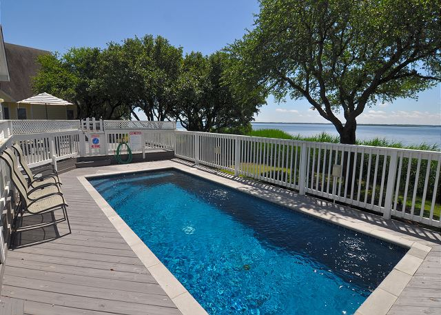 Pool Patio of Sugar Shack, a 4 bedroom, 3.0 bathroom vacation rental in Corolla, NC